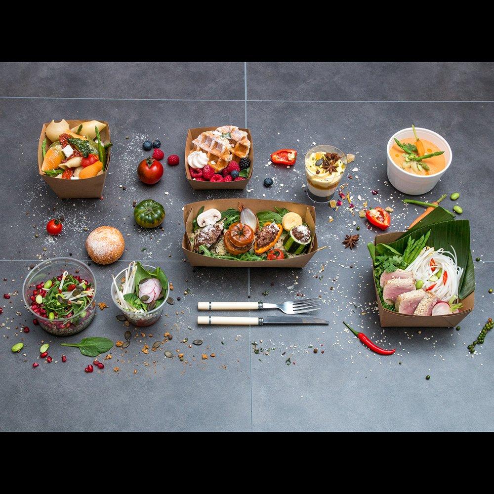 Photographie mettant en scene divers plats préparés par Bocus